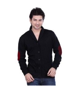 LUCfashion Black Solid Casual Blazer
