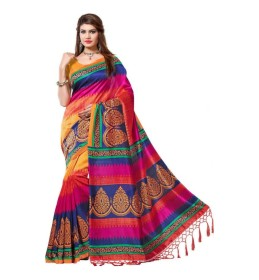 VASTRAKALA Printed Bollywood Printed Silk Sari