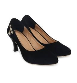 Star Style Women Black Heels